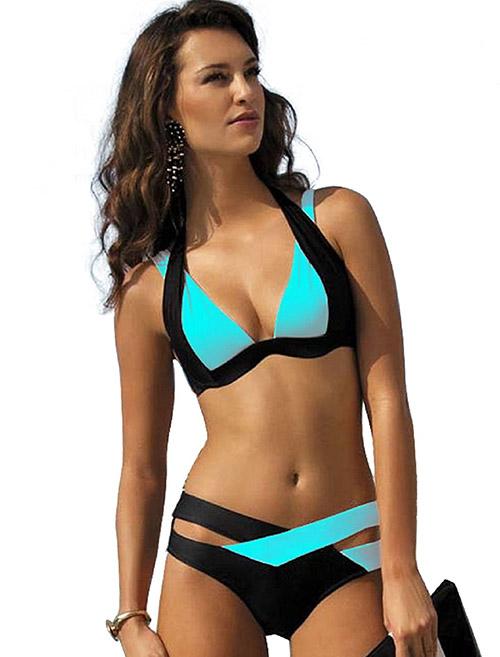 Swimming Costumes For Ladies - 1. Double Strap String Bikini Set