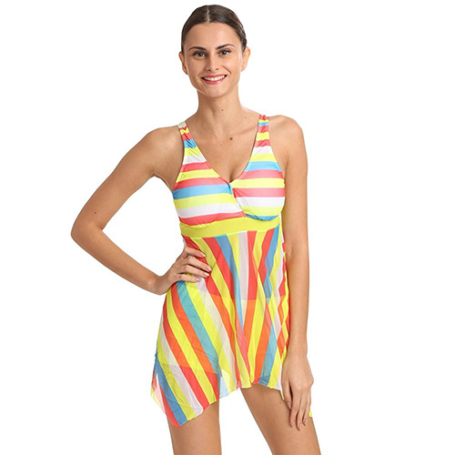 Swimming Costumes For Ladies - 3. Striped Two Piece Tankini