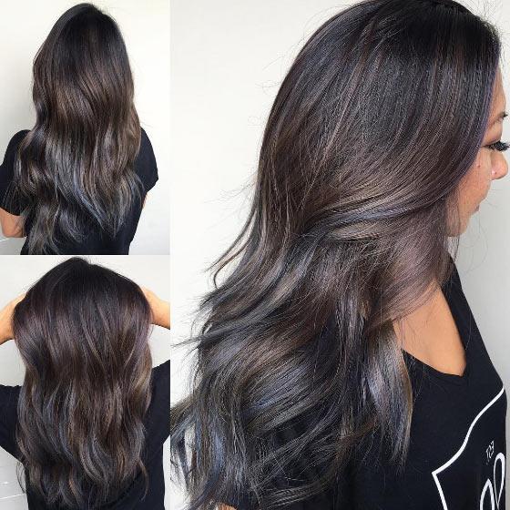 Blue Highlights For Dark Hair 7000 Hair Highlights