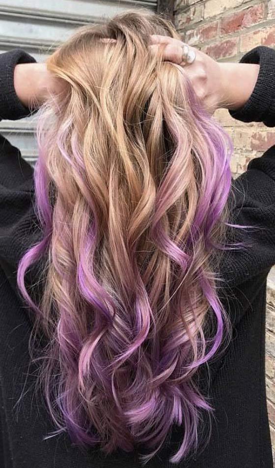 Purple With Blonde Hair Best Image Of Blonde Hair 2018