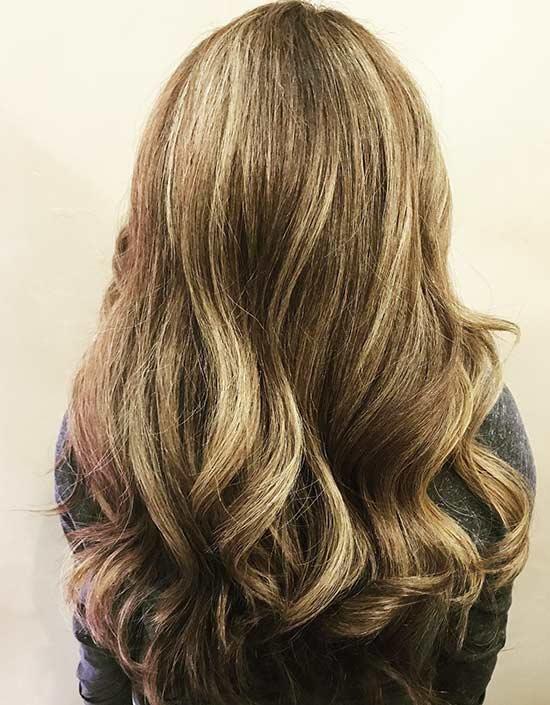 10. Caramel Highlights On Light Blonde