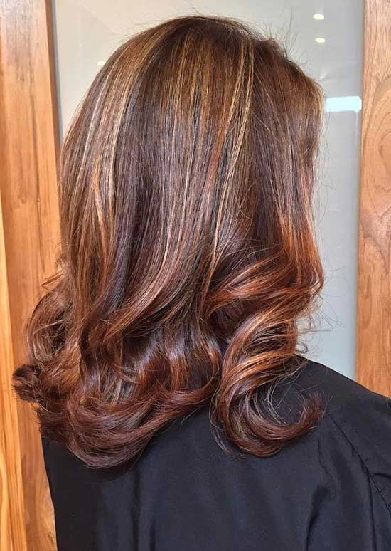 13. Copper And Caramel Highlights