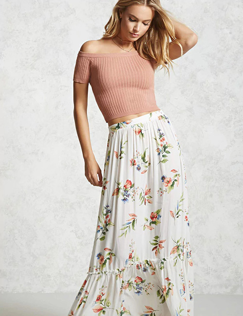 How To Wear A Crop Top - Crop Top With A Maxi Skirt