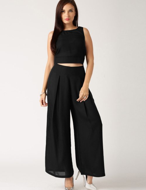 How To Wear A Crop Top - Crop Top With Palazzo
