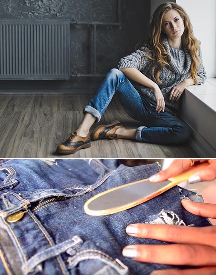 How To Make Ripped Jeans - Scrape Or Bleach Off