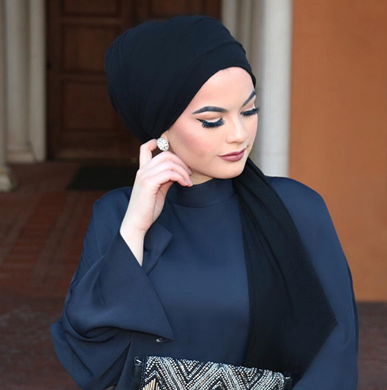 Hijab Style For Diamond Face