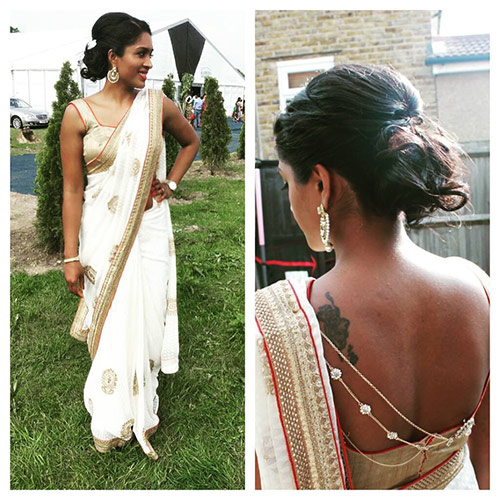 Hairstyles To Complement Your Saree - Messy Low Bun