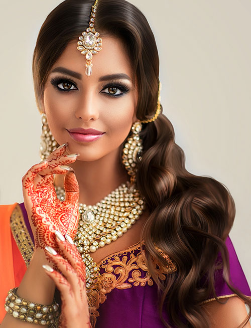 Hairstyles To Complement Your Saree - Beachy Waves