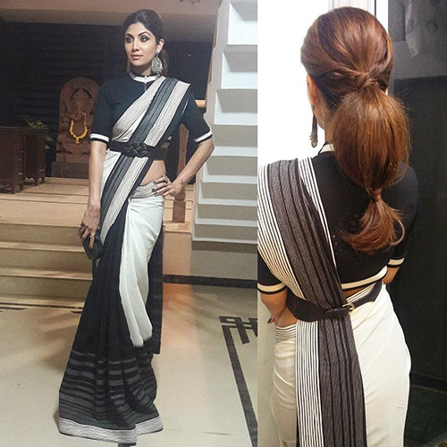 Hairstyles To Complement Your Saree - Bubble Ponytail