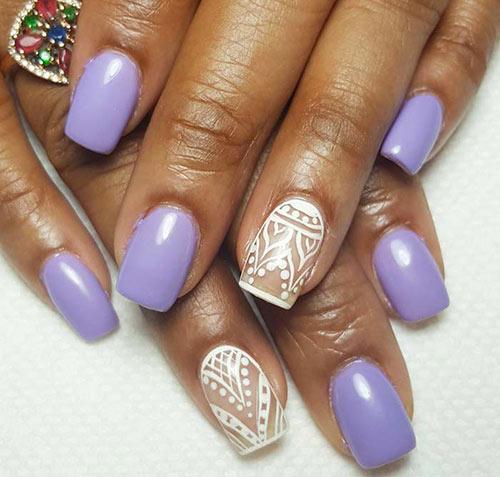 Lavender Boho Acrylic Nails