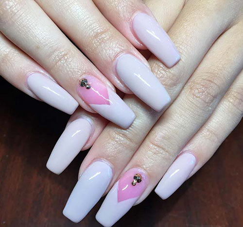 Cute Acrylic Nails in Pink
