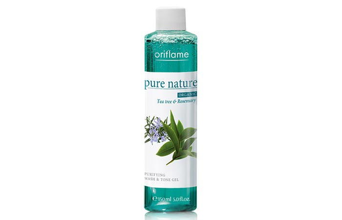 Oriflame Pure Nature Organic Tea Tree and Rosemary Purifying Wash and Tone Gel