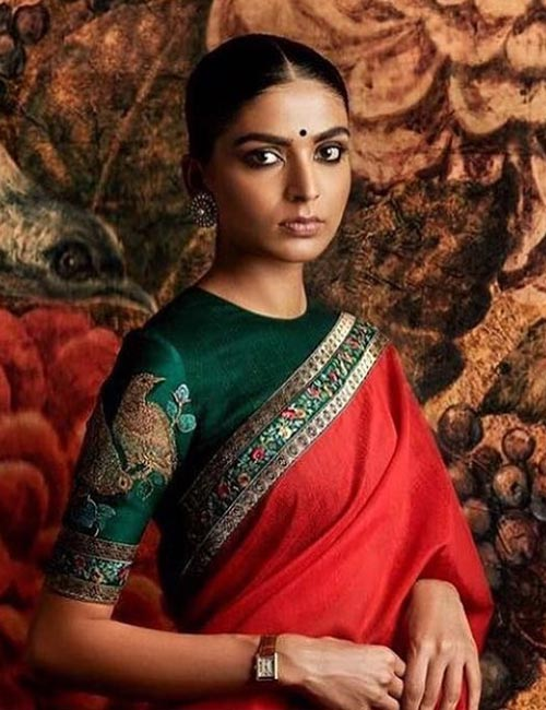 12. High Boat Neck Blouse For Silk Saree