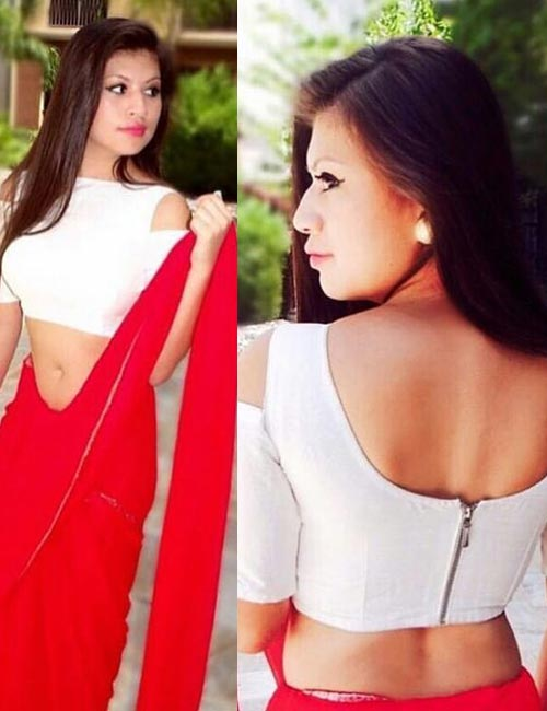 13. Cold Shoulder Boat Neck Blouse, With A Zip