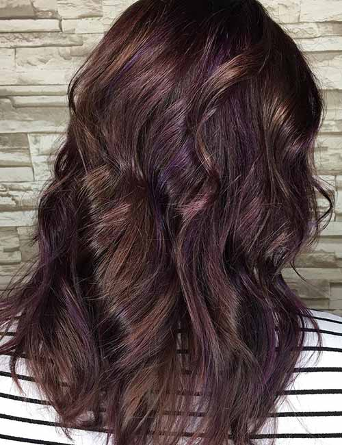 Dark Brown Hair Purple Highlights Find Your Perfect Hair Style