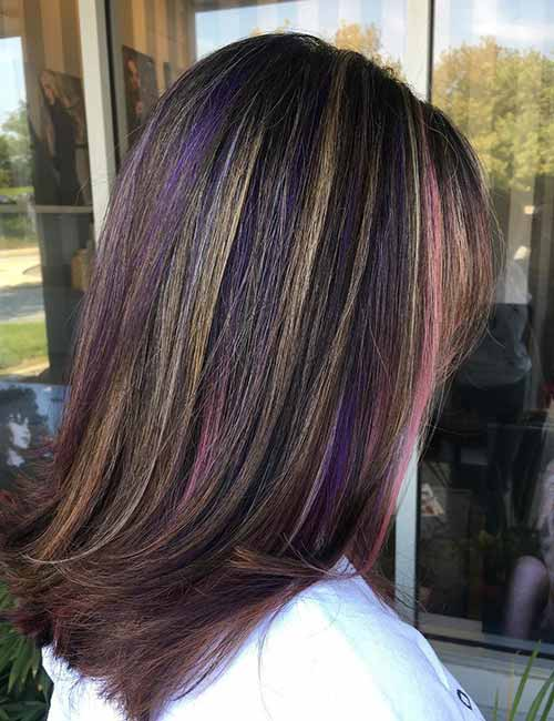 Blonde Hair With Reddish Purple Highlights Best Image Of Blonde