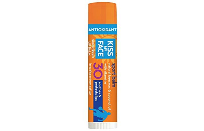 Best Drugstore Lip Balms - 11. Kiss My Face Sports Sunscreen Lip Balm