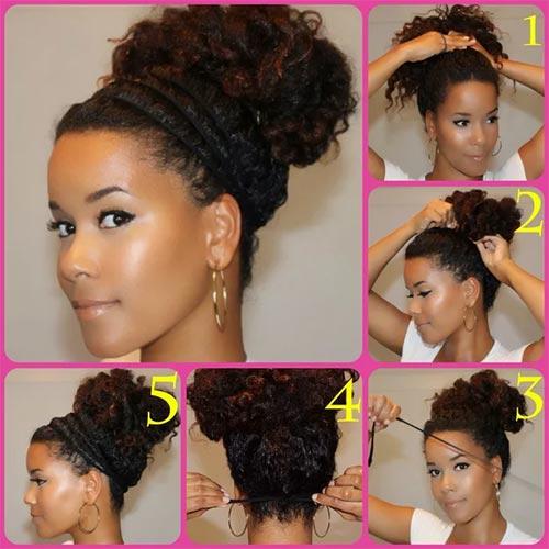 10. Messy Bun With Headband Accent
