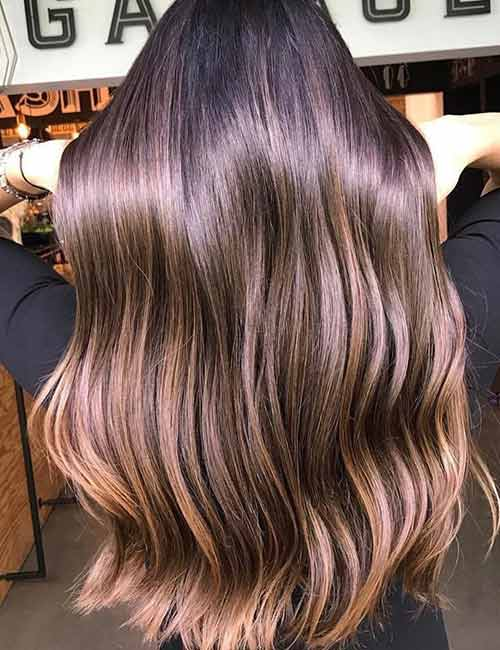 14. Glossed Autumn Highlights