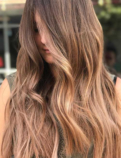 2. Light Brown With A Subtle Balayage