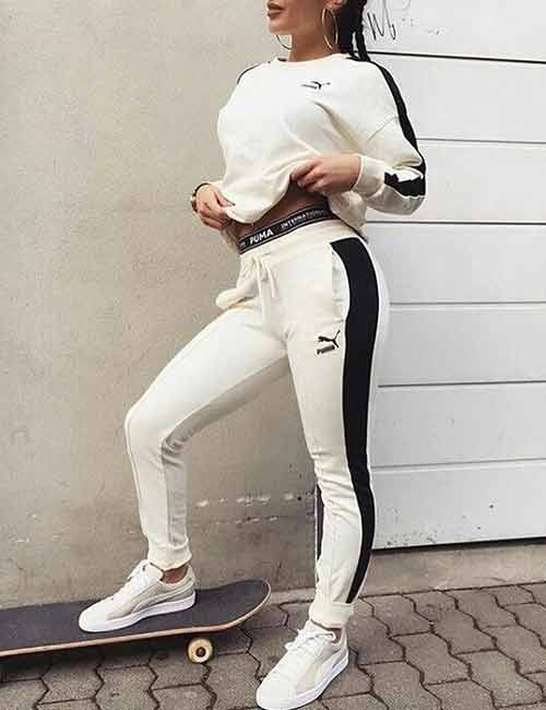 Ways To Wear Joggers - A Complete White Joggers Outfit
