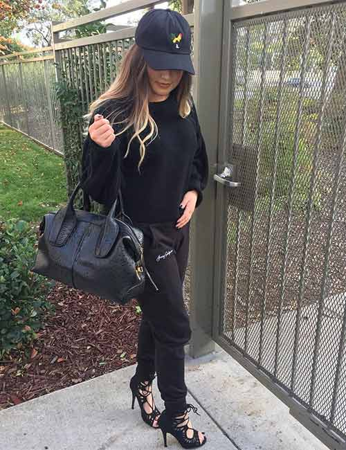 Ways To Wear Joggers - Black Monochrome Look