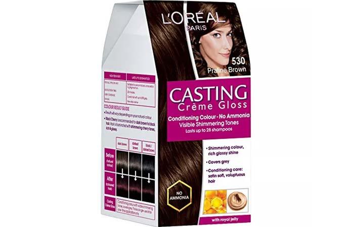 L'Oreal Paris Casting Creme Gloss Hair Color - 530 Praline Brown