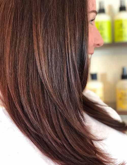 12. Reddish Brown Hair Color