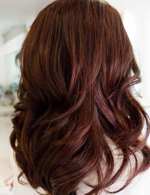 18. Mahogany Brown Hair Color